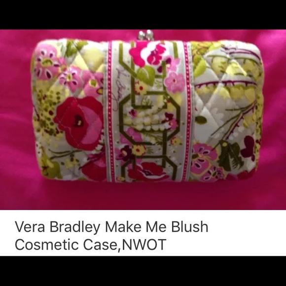 Vera Bradley Handbags - Vera Bradley Make Me Blush Cosmetic Case    NWOT